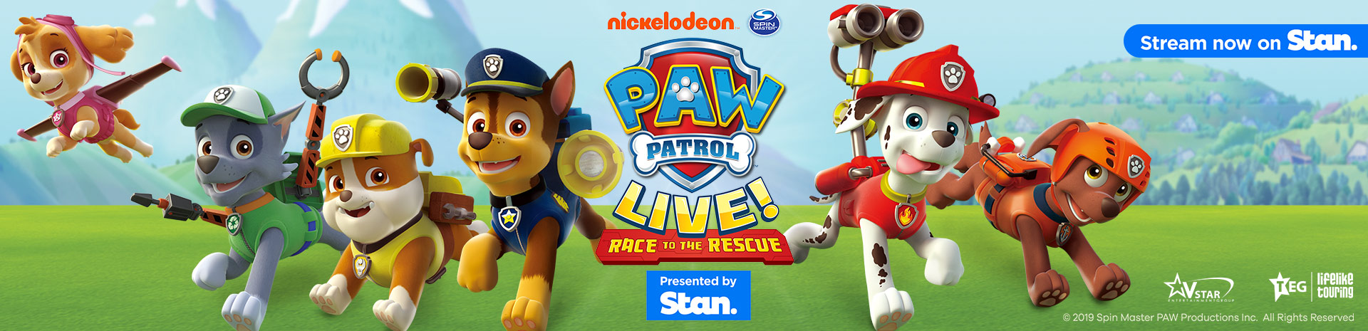 PAW Patrol Live - Race to the Rescue Banner