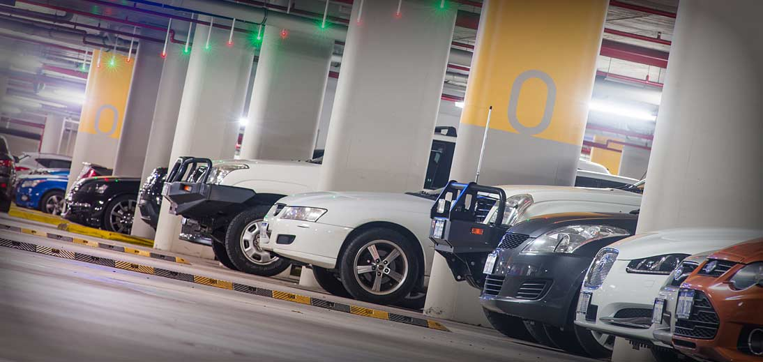 Image of cars in the RAC Arena car park